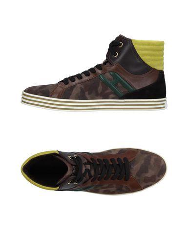 Фото - Высокие кеды и кроссовки от HOGAN REBEL цвета хаки