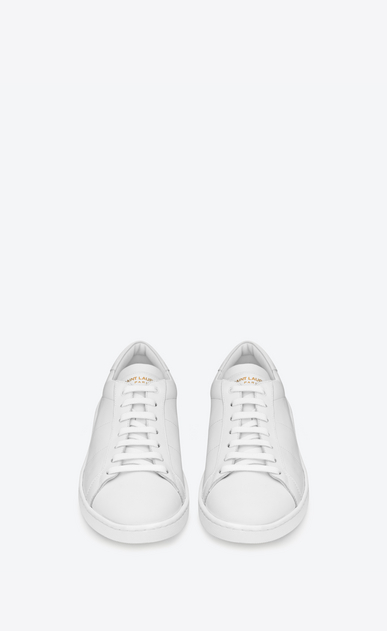 SAINT LAURENT Low Sneakers U sl/01 court classic sneakers in optic white leather b_V4
