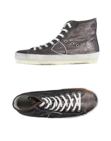 Фото - Высокие кеды и кроссовки от PHILIPPE MODEL свинцово-серого цвета