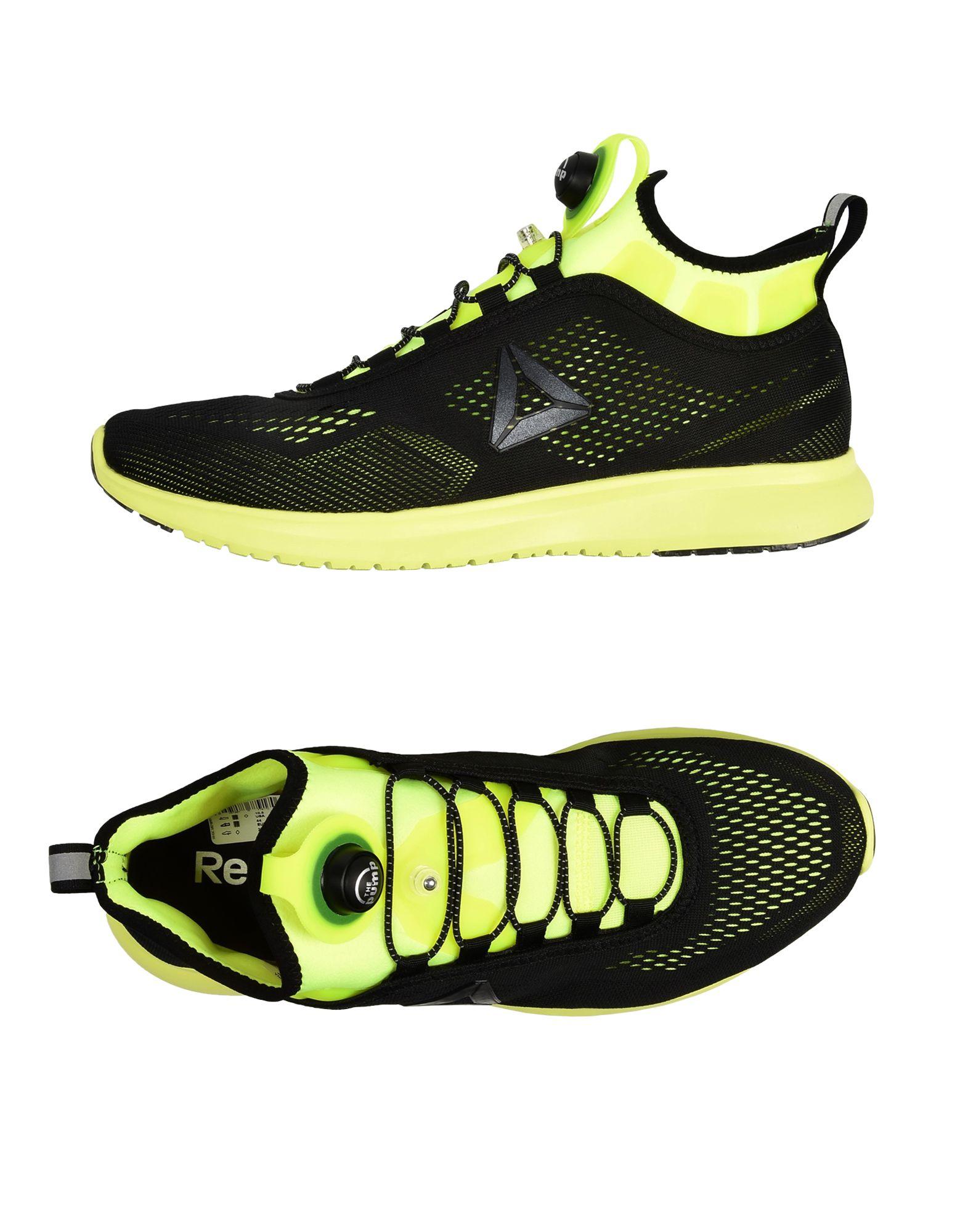 《送料無料》REEBOK メンズ スニーカー&テニスシューズ(ローカット) ブラック 9.5 紡績繊維 / ゴム PUMP PLUS TE
