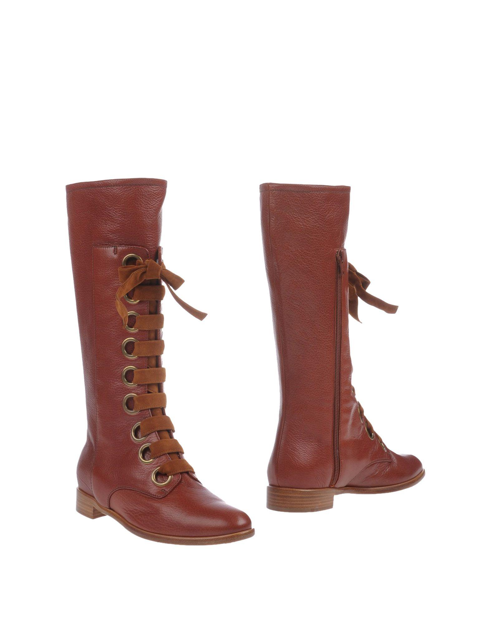 EDMUNDO CASTILLO Boots in Brick Red