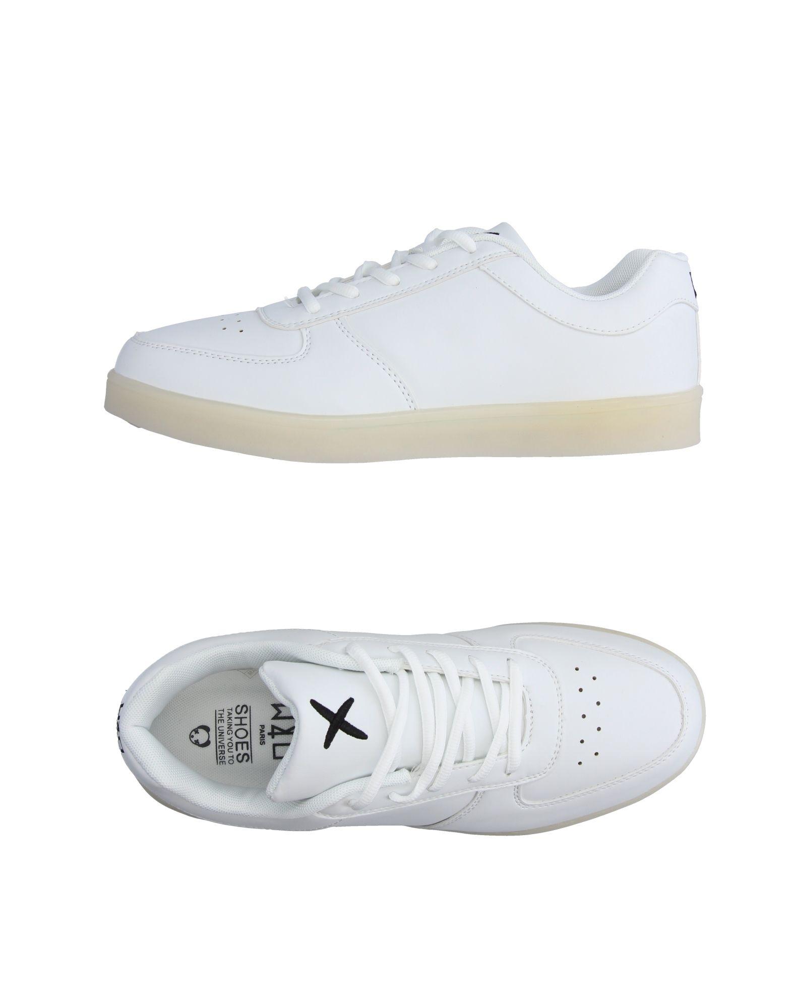 《送料無料》WIZE & OPE メンズ スニーカー&テニスシューズ(ローカット) ホワイト 7 紡績繊維