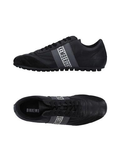 BIKKEMBERGS Sneakers & Tennis basses homme. cuir martelé, logo, uni, fermeture avec cordons, pointe arrondie, intérieur en tissu