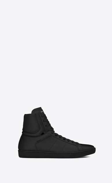 SAINT LAURENT High top sneakers U signature court classic sl/01h high top sneaker in black leather a_V4