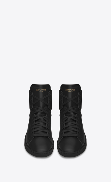 SAINT LAURENT High top sneakers U signature court classic sl/01h high top sneaker in black leather b_V4