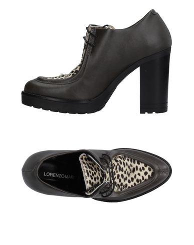 LORENZO MARI Chaussures à lacets femme. cheveux de veau, sans applications, fantaisie animalier, pointe arrondie, doublure en cuir, semelle en