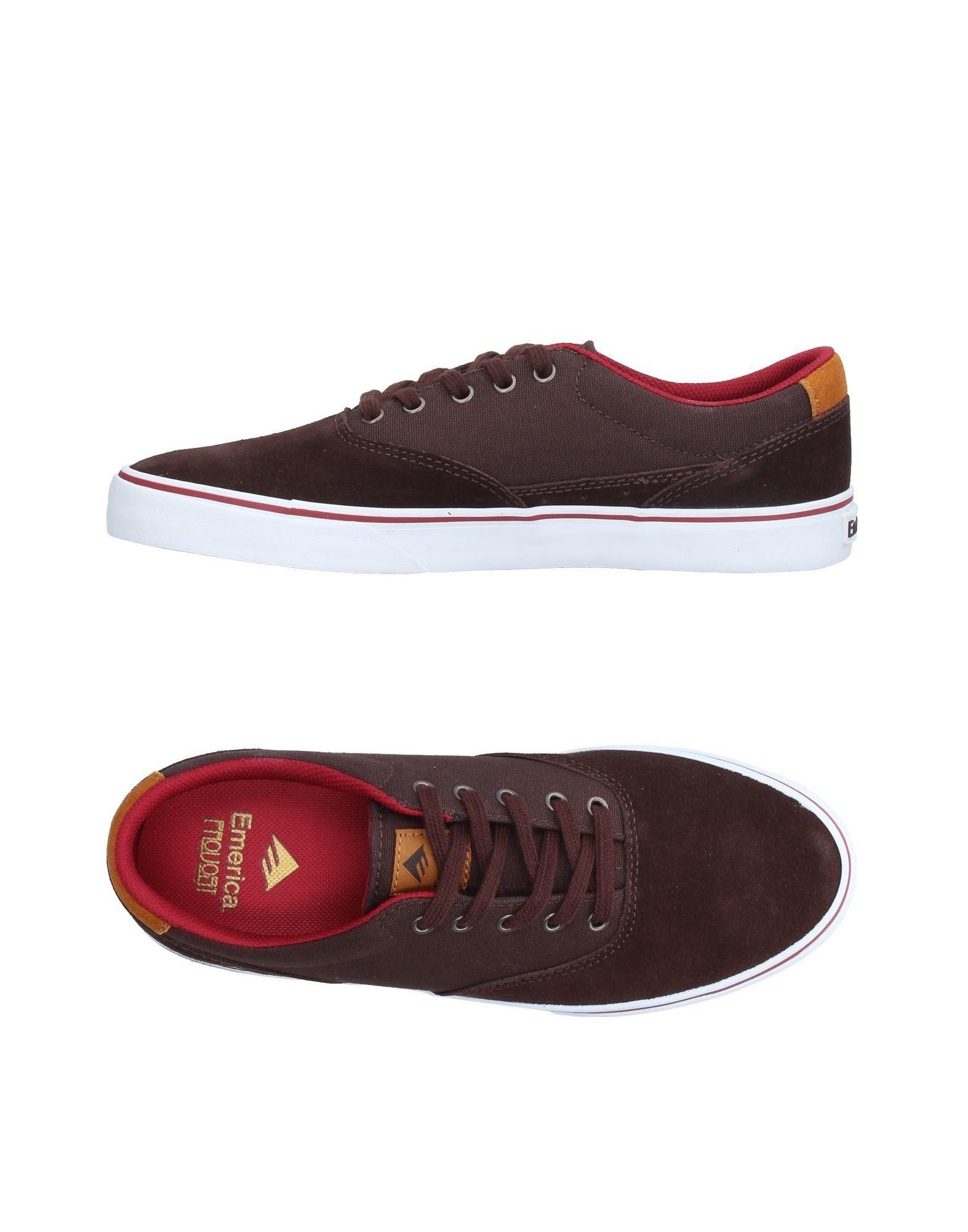 EMERICA Herren Low Sneakers & Tennisschuhe Farbe Dunkelbraun Größe 1