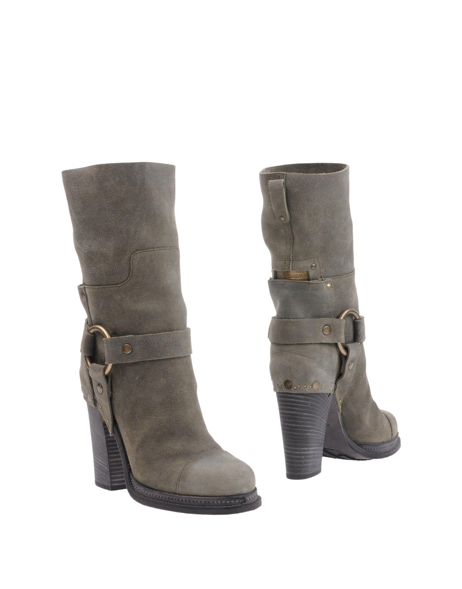 DOLCE & GABBANA Полусапоги и высокие ботинки одежда из кожи dolce gabbana g9z03l fult6 dolce