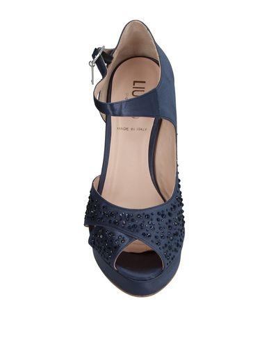 Фото 2 - Женские туфли  грифельно-синего цвета