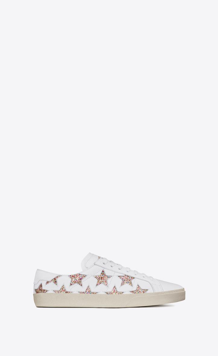 1df4757571 signature court classic sl 06 california sneaker in off white leather and  multicolor glitter