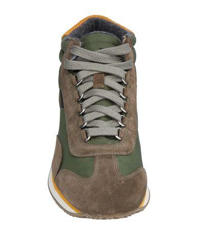 Фото 2 - Высокие кеды и кроссовки цвет зеленый-милитари