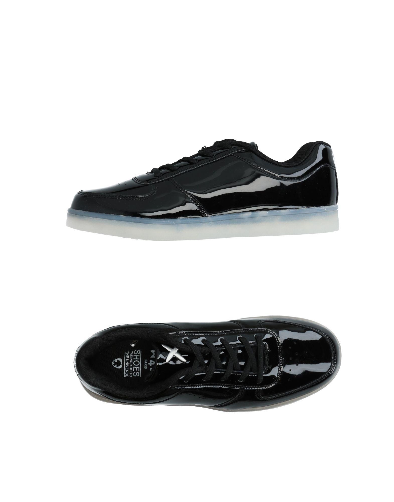 《送料無料》WIZE & OPE メンズ スニーカー&テニスシューズ(ローカット) ブラック 5.5 紡績繊維