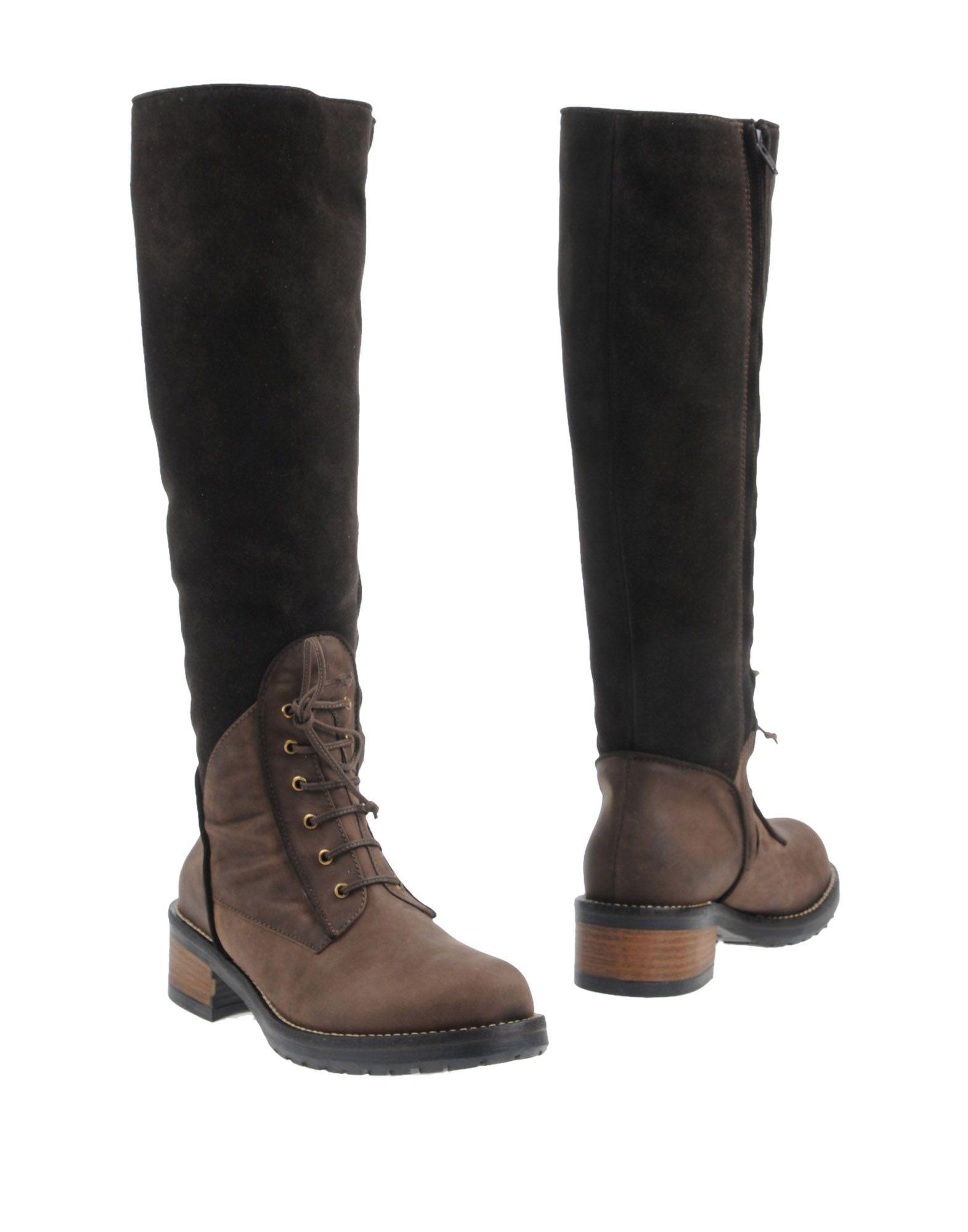 PETER FLOWERS Boots in Dark Brown