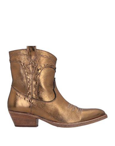 Купить Полусапоги и высокие ботинки от LEMARÉ золотистого цвета