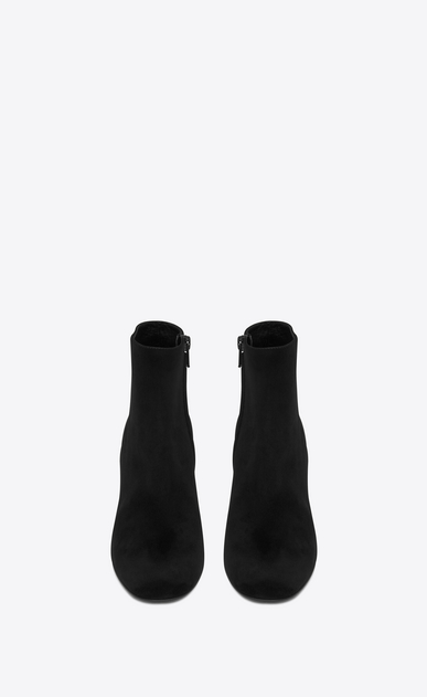 SAINT LAURENT Loulou D loulou 70 zipped ankle boot in black suede  b_V4