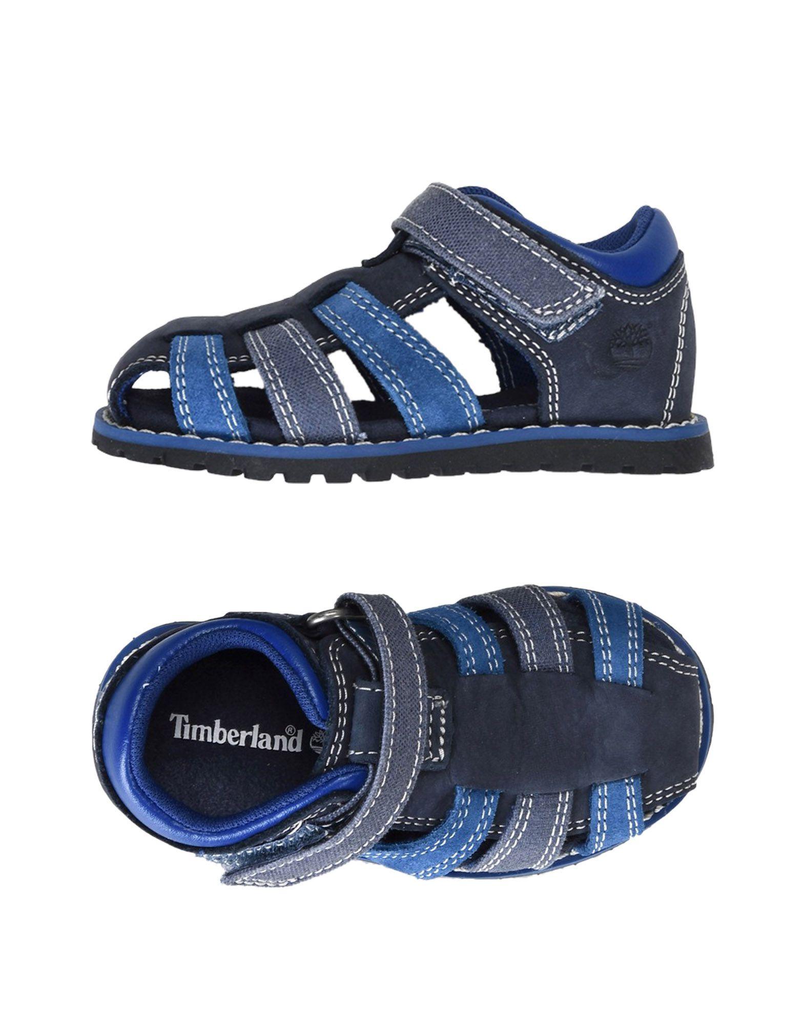 《期間限定セール中》TIMBERLAND ボーイズ 0-24 ヶ月 サンダル ダークブルー 4C 革 / 紡績繊維 POKEY PINE FISHERMAN