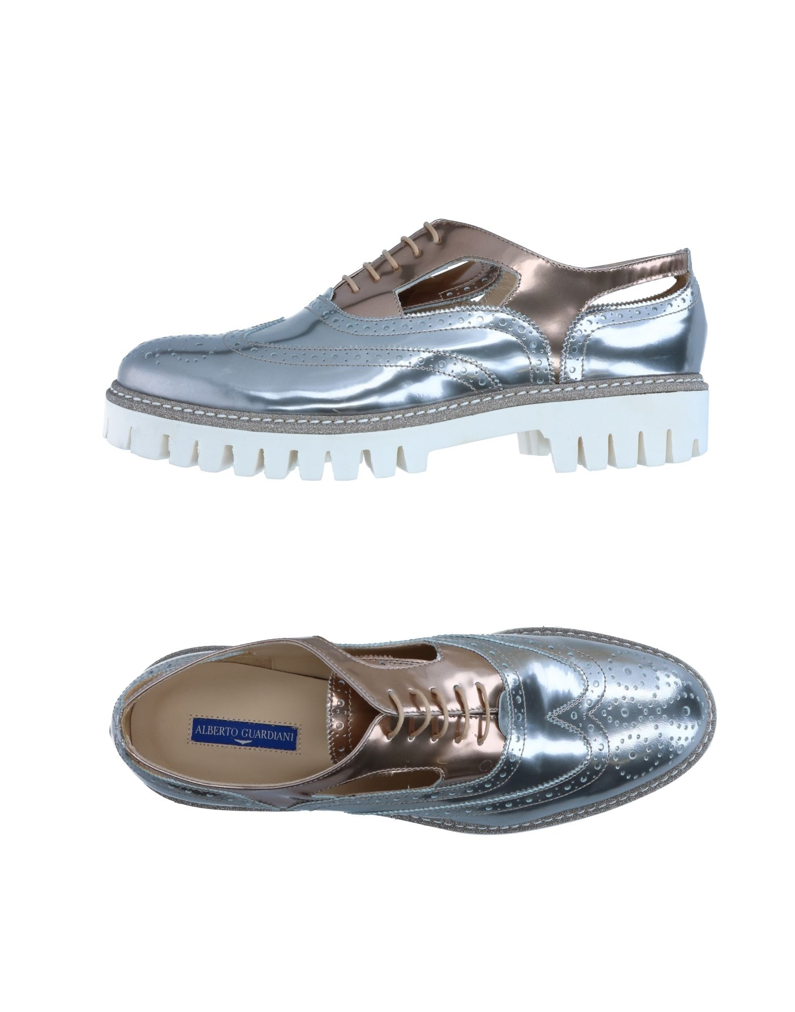 ALBERTO GUARDIANI Laced Shoes in Silver
