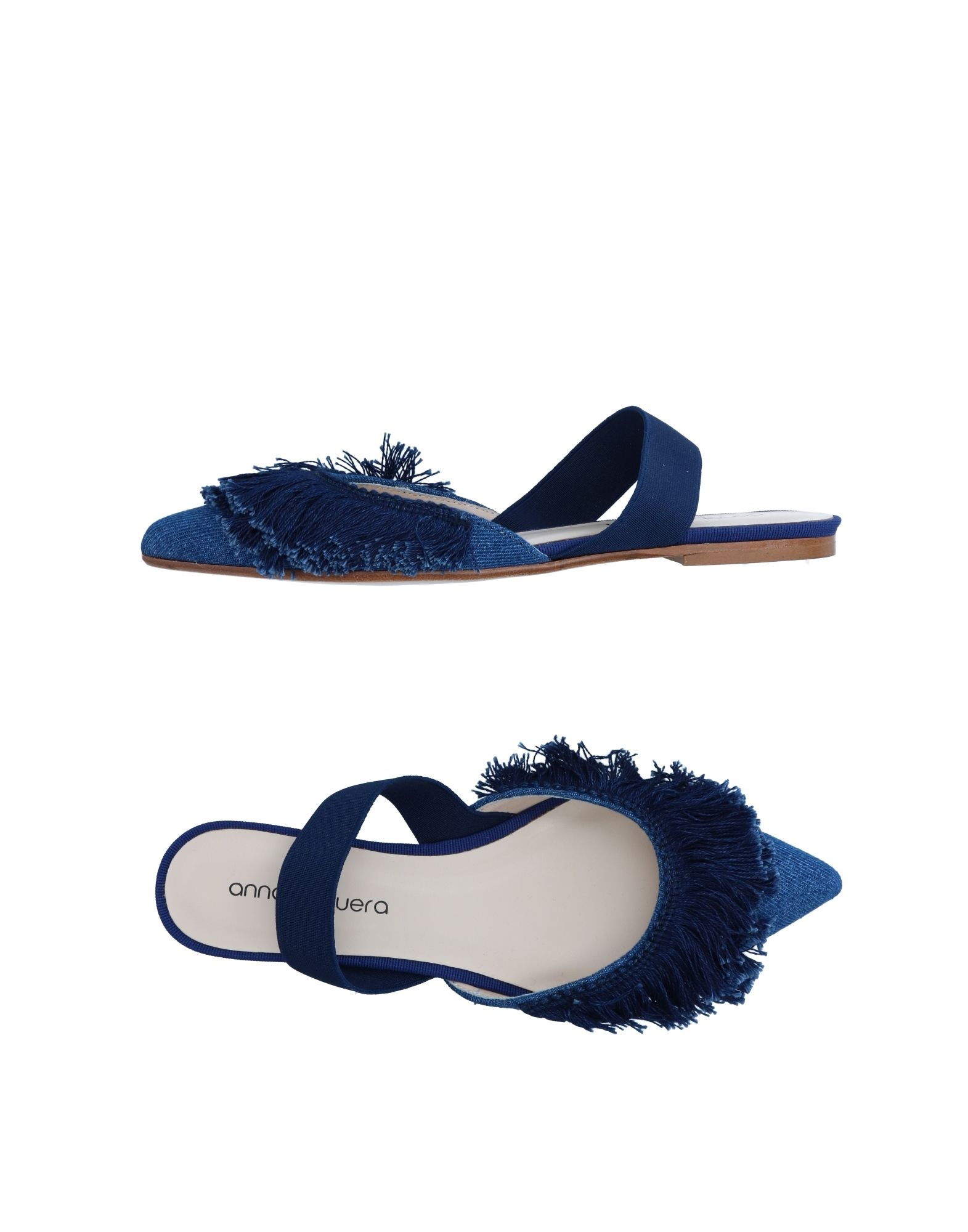 《送料無料》ANNA BAIGUERA レディース バレエシューズ ダークブルー 37 紡績繊維