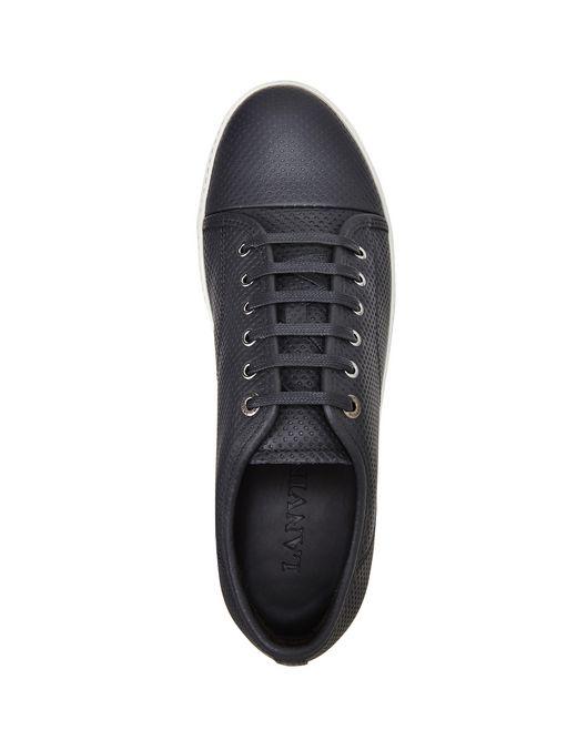 lanvin dbb1 suede calfskin sneakers men