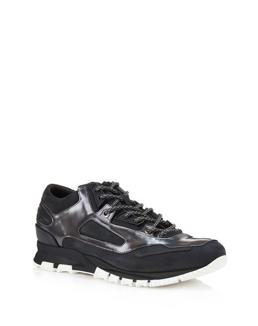 lanvin leather cross-trainers men