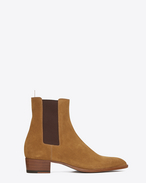SAINT LAURENT Boots U classic wyatt 40 chelsea boot in tan suede f