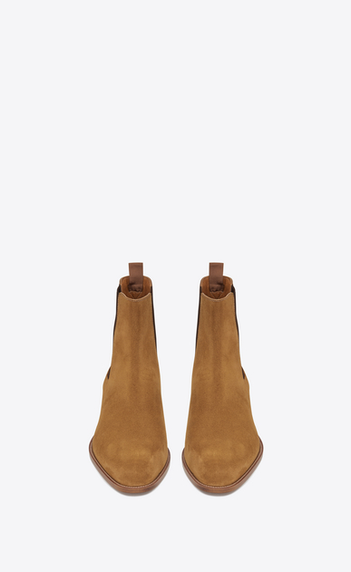 SAINT LAURENT Boots Man classic wyatt 40 chelsea boot in tan suede b_V4