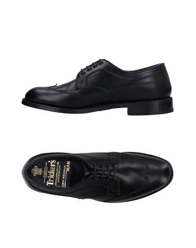 JUNYA WATANABE COMME DES GARCONS MAN for TRICKER'S Chaussures à lacets homme. sans applications, uni, pointe arrondie, doublure en cuir, semell