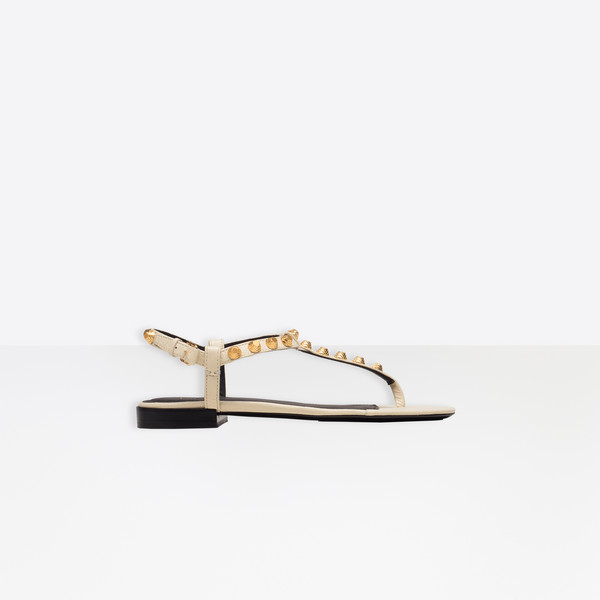 Giant Gold T-Strap Sandals