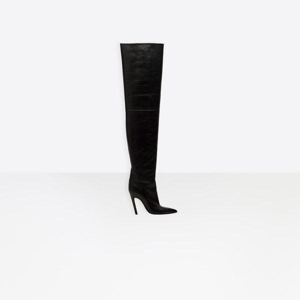 Slash Heel Over-the-Knee Boots