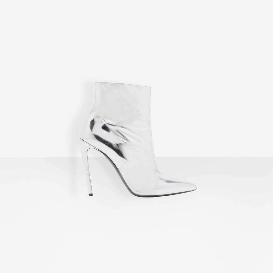 BALENCIAGA Slash Heel Booties Slash Shoes Woman f