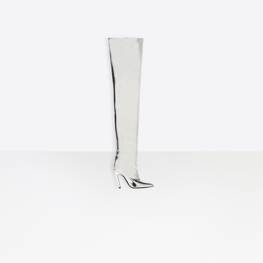 BALENCIAGA Botas Slash Heel sobre la rodilla Slash Shoes D f