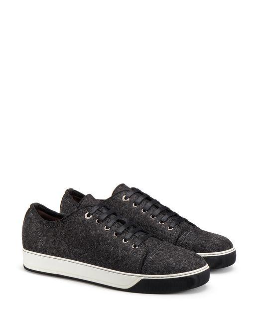 lanvin wool felt sneaker men