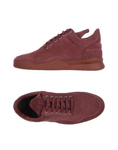 Купить Низкие кеды и кроссовки от FILLING PIECES красно-коричневого цвета