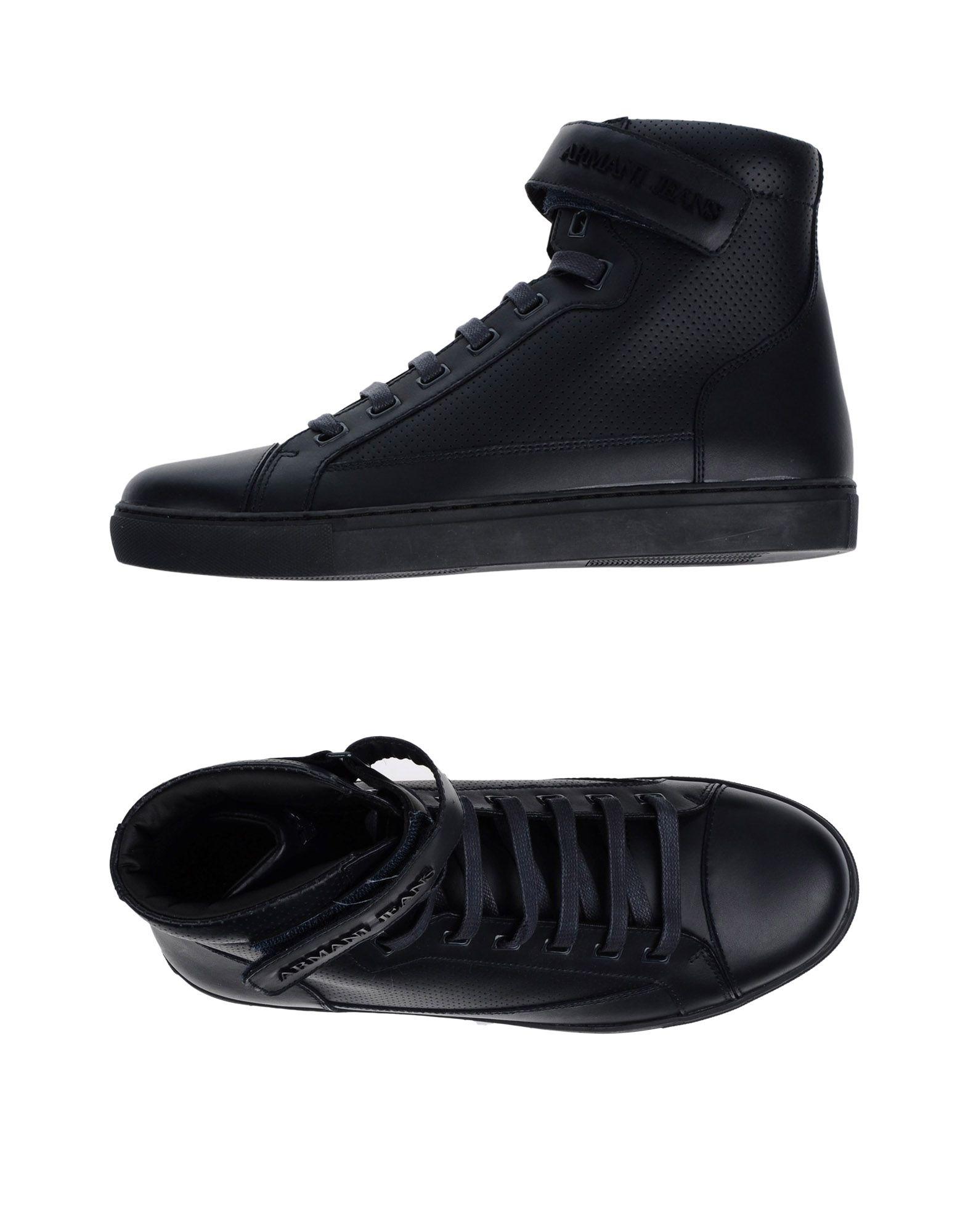 ARMANI JEANS Высокие кеды и кроссовки