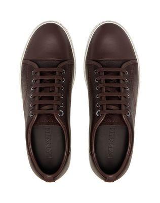 LANVIN DBB1 GRAINED CALFSKIN SNEAKER Sneakers U a