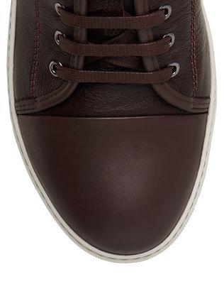 LANVIN DBB1 GRAINED CALFSKIN SNEAKER Sneakers U e