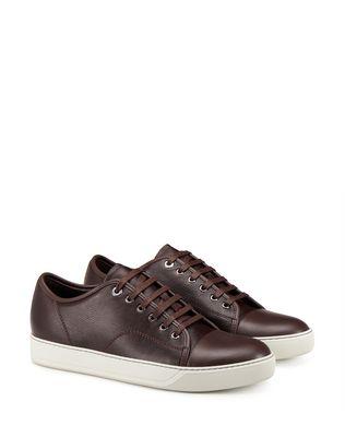 LANVIN DBB1 GRAINED CALFSKIN SNEAKER Sneakers U r