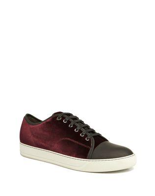 LANVIN DBB1 VELVET SNEAKER Sneakers U f
