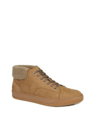 LANVIN Sneakers U NUBUCK CALFSKIN MID-TOP SNEAKER F