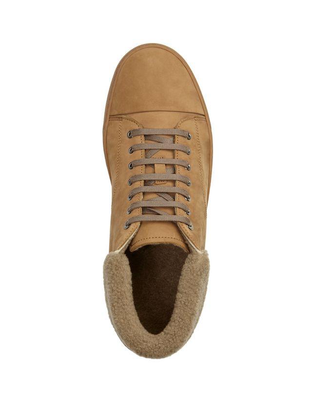 LANVIN NUBUCK CALFSKIN MID-TOP SNEAKER Sneakers U r