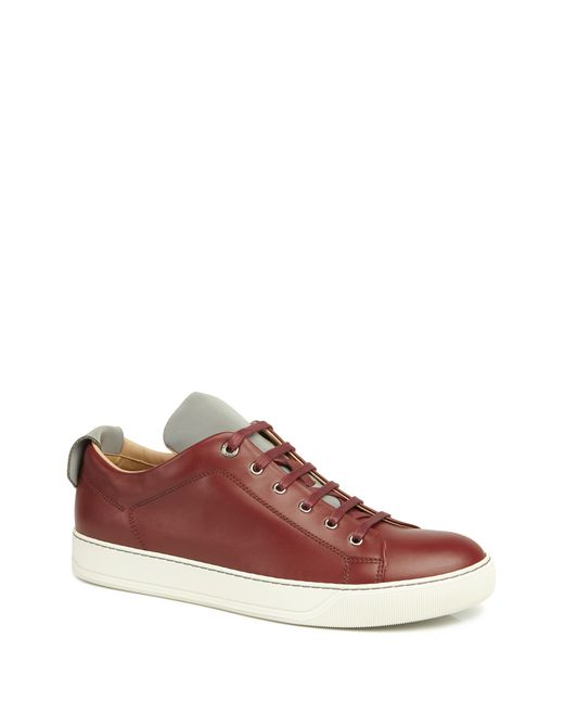 lanvin smooth calfskin sneaker men