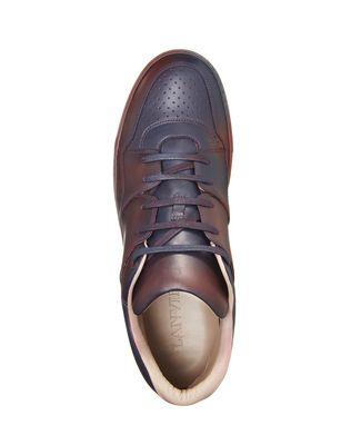 LANVIN SPRAYPAINT CALFSKIN MID-TOP SNEAKER Sneakers U r