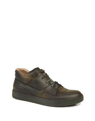 LANVIN SPRAYPAINT CALFSKIN MID-TOP SNEAKER Sneakers U f