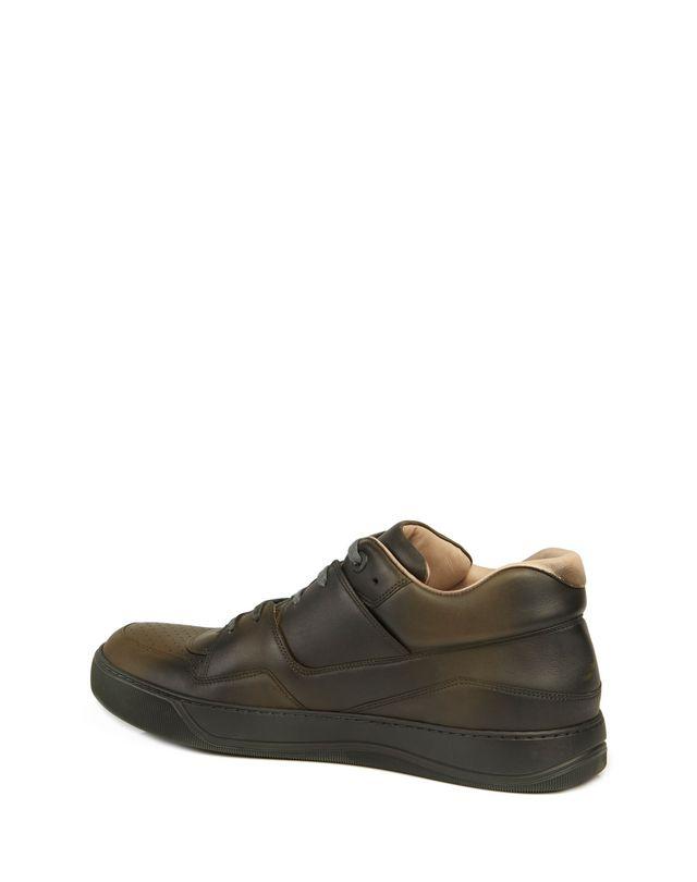 LANVIN SPRAYPAINT CALFSKIN MID-TOP SNEAKER Sneakers U d