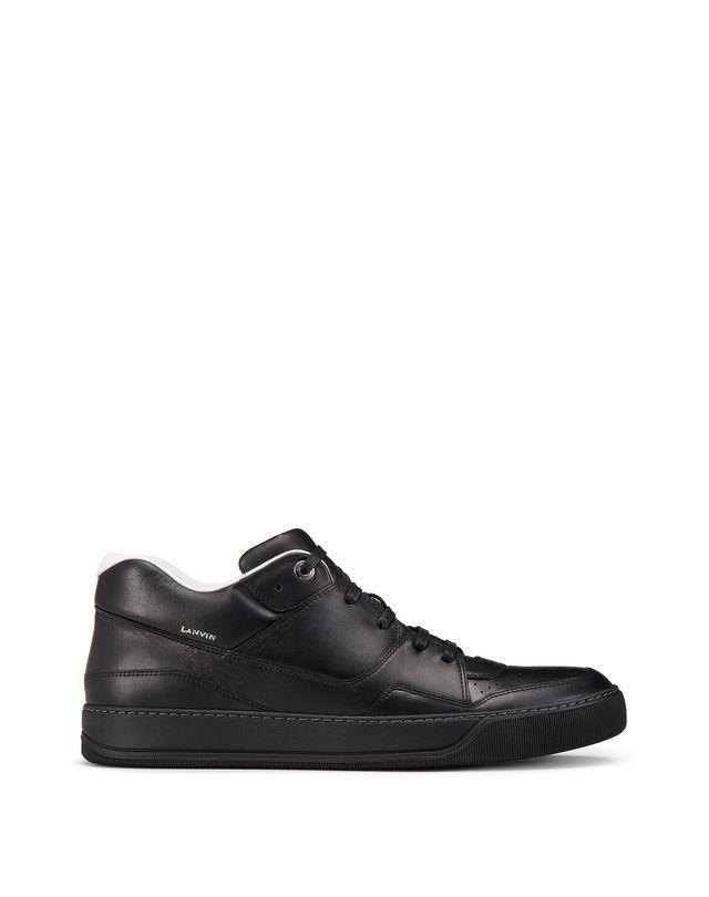 LANVIN NAPPA CALFSKIN MID-TOP SNEAKER Sneakers U f