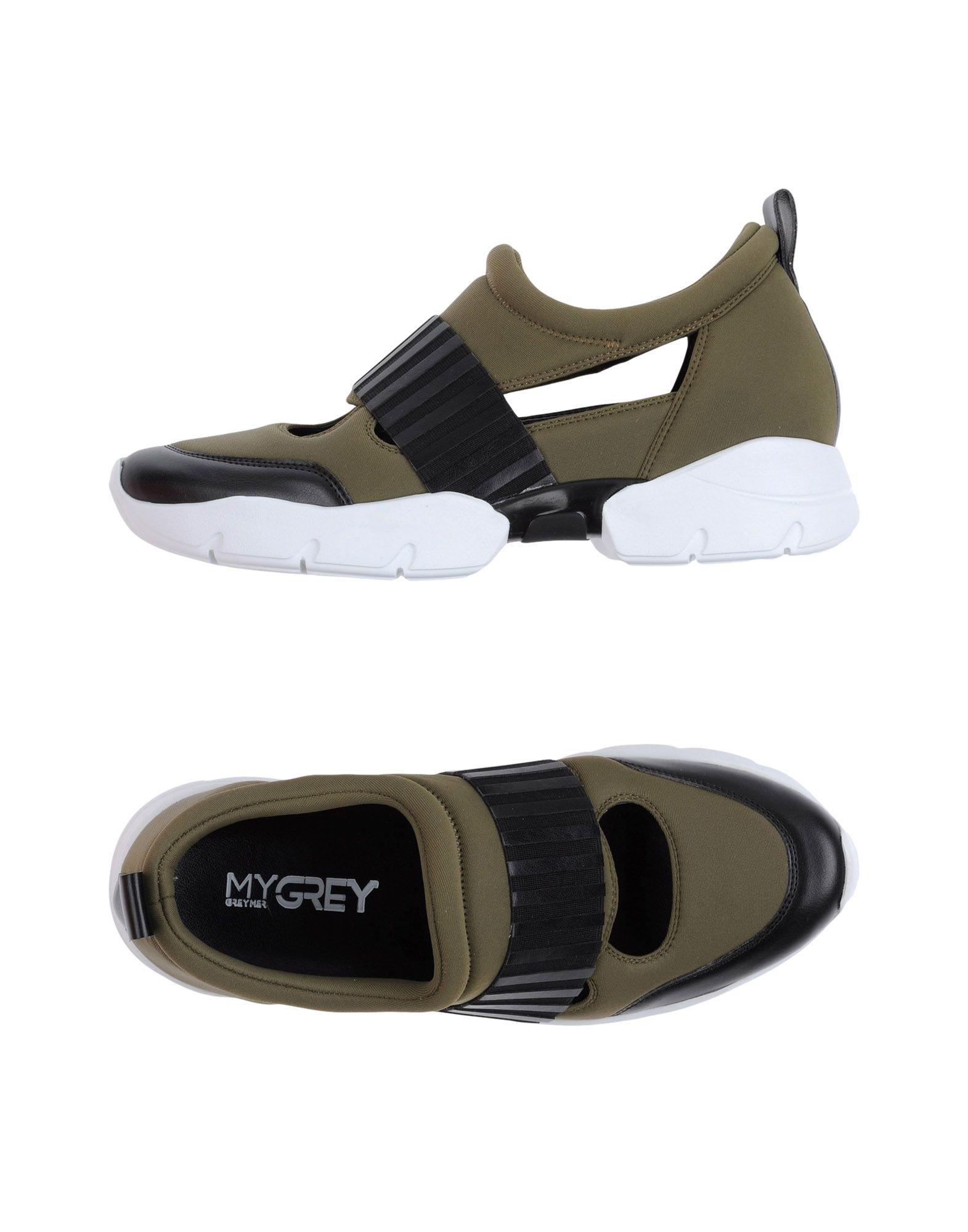 MY GREY Damen Low Sneakers & Tennisschuhe Farbe Militärgrün Größe 9