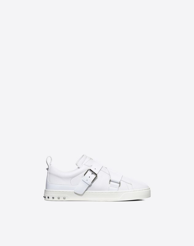 V-punk轻软皮革运动鞋  白色