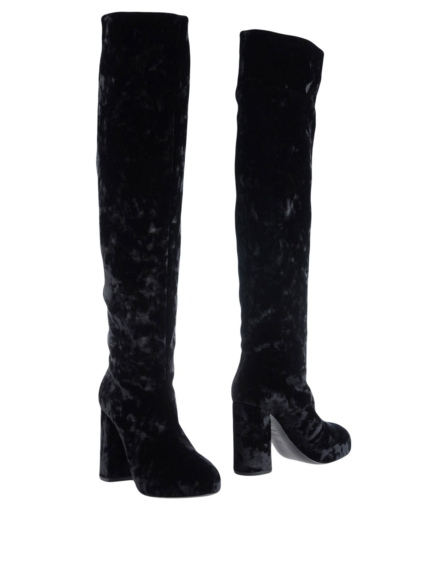 MSGM Boots. chenille, no appliqués, solid color, round toeline, leather lining, rope sole, square heel. Textile fibers