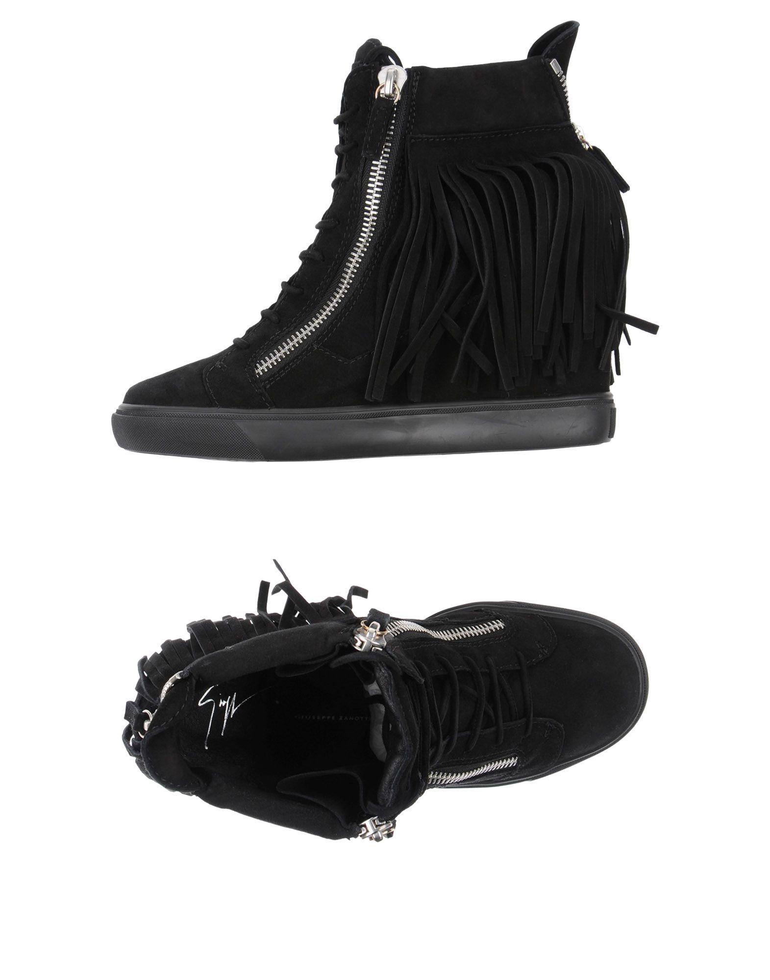 GIUSEPPE ZANOTTI DESIGN Damen High Sneakers & Tennisschuhe Farbe Schwarz Größe 15
