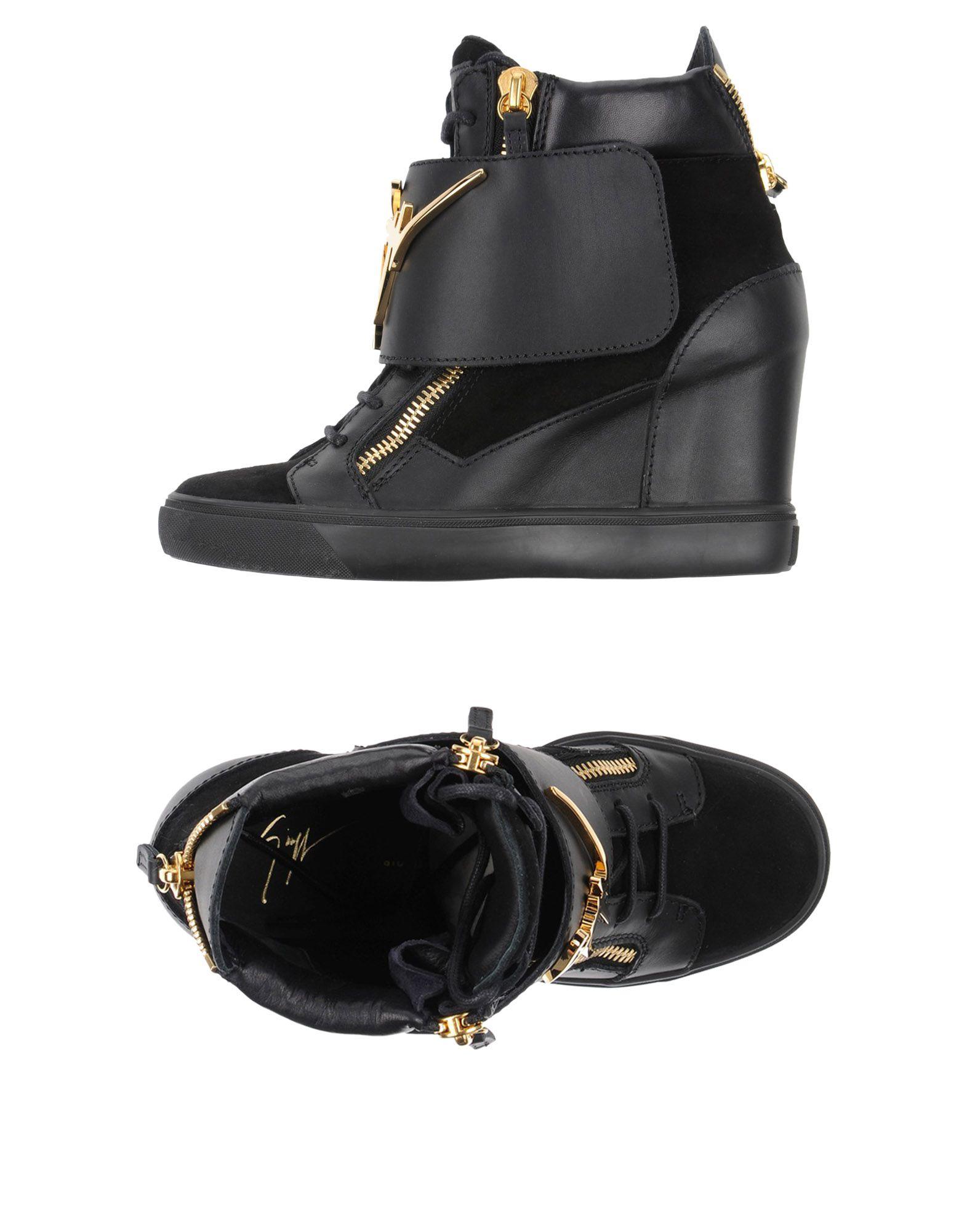 GIUSEPPE ZANOTTI DESIGN Damen High Sneakers & Tennisschuhe Farbe Schwarz Größe 13